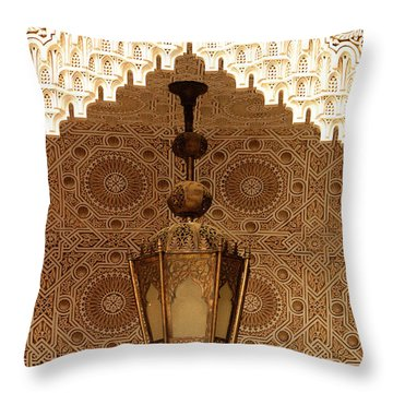 Islamic Plasterwork Throw Pillow