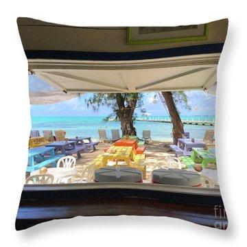 Island Bar View Throw Pillow
