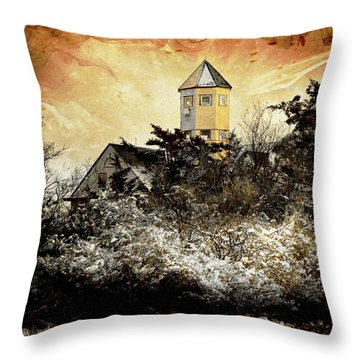 Island Beach  Throw Pillow