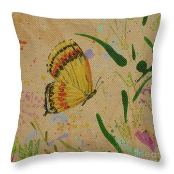 Island Butterfly Series 1 Of 6 Throw Pillow