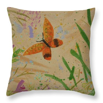 Island Butterfly Series 3 Of 6 Throw Pillow by Gail Kent