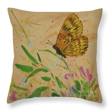 Island Butterfly Series 4 Of 6 Throw Pillow by Gail Kent