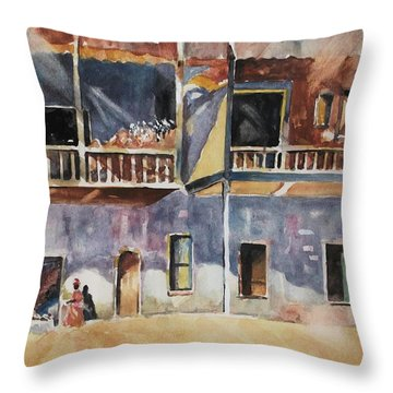 Island Community Throw Pillow by Al Brown