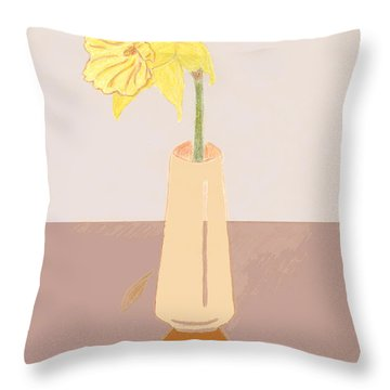 Island Daffodil Throw Pillow