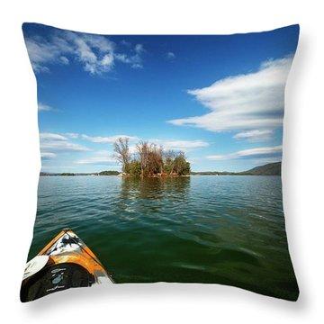 Throw Pillow featuring the photograph Island Destination by Alan Raasch