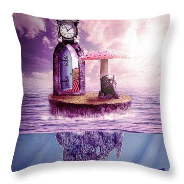 Throw Pillow featuring the digital art Island Dreaming by Nathan Wright