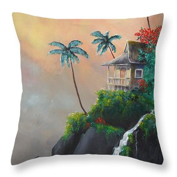 Throw Pillow featuring the painting Island Getaway by Dan Whittemore