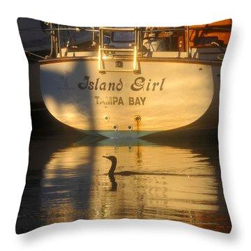 Island Girl Throw Pillow by David Lee Thompson