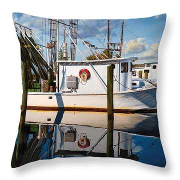 Island Girl Throw Pillow by Rick McKinney