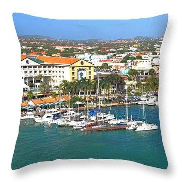 Island Harbor Throw Pillow