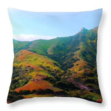 Island Hills Throw Pillow by Timothy Bulone
