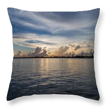 Island Horizon Throw Pillow by Christopher L Thomley