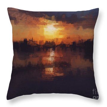 Island In The City Throw Pillow