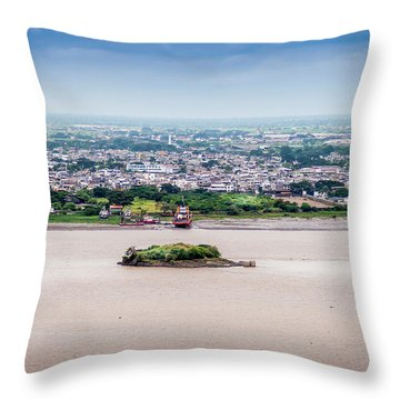 Island In The River Throw Pillow