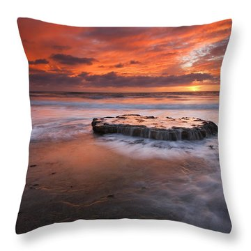 Island In The Storm Throw Pillow by Mike  Dawson