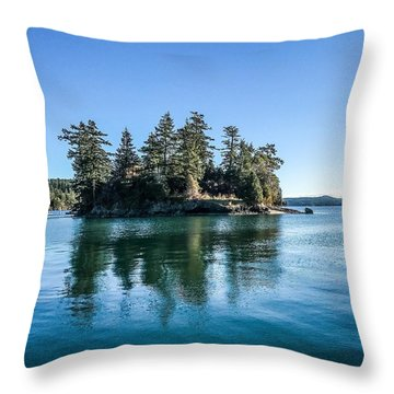 Island In West Sound Throw Pillow