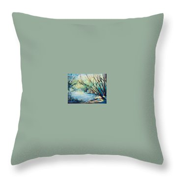 Island Lake Throw Pillow