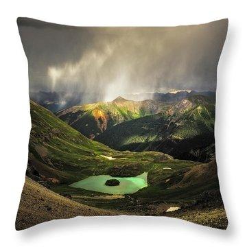 Island Lake Throw Pillow