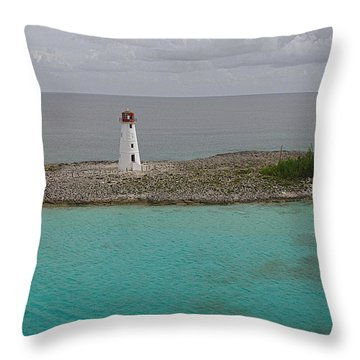 Island Lighthouse Throw Pillow