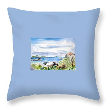 Island Memories Throw Pillow