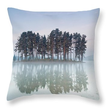 Island Of The Day Before Throw Pillow by Evgeni Dinev