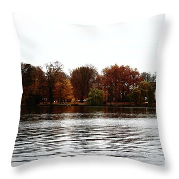Island Of Trees Throw Pillow