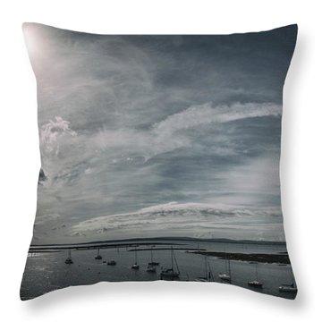 Island Panorama Throw Pillow
