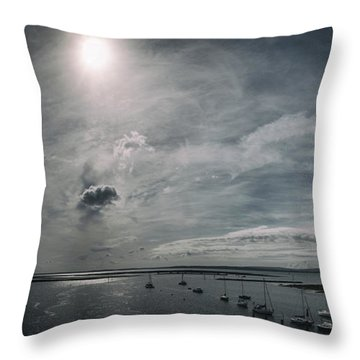 Island Panorama Throw Pillow