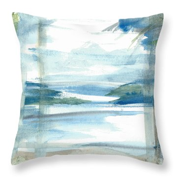 Throw Pillow featuring the painting Island Paradise by Reed Novotny