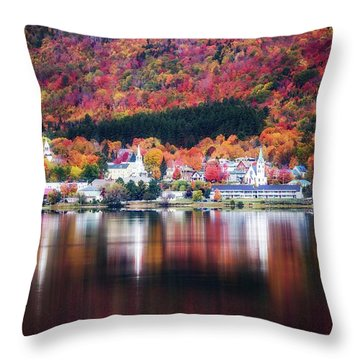 Island Pond Vermont Throw Pillow by Sherman Perry