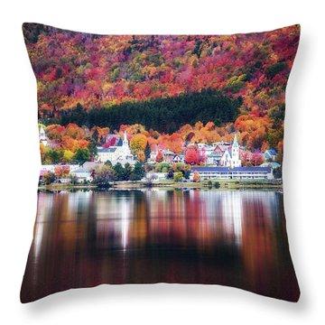 Island Pond Vermont Throw Pillow