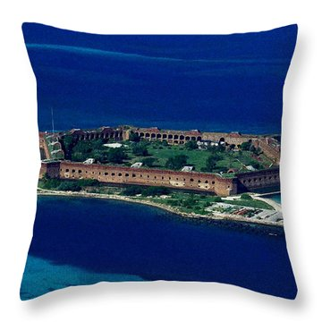 Island Prison Throw Pillow by Skip Willits