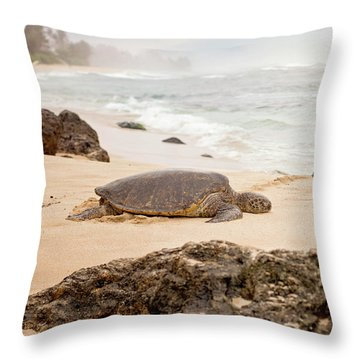 Island Rest Throw Pillow by Heather Applegate