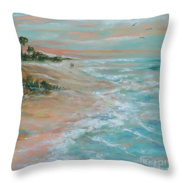 Island Romance Throw Pillow