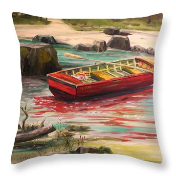 Island Shade Throw Pillow by John Williams