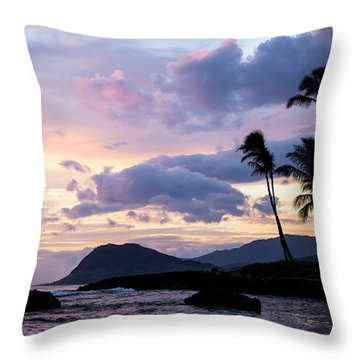 Island Silhouettes  Throw Pillow by Heather Applegate