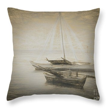 Island Sketches V Throw Pillow