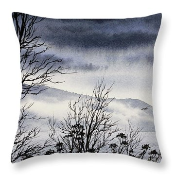 Throw Pillow featuring the painting Island Solitude by James Williamson