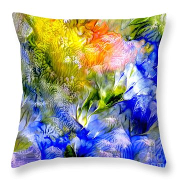 Island Spring Throw Pillow by Fred Wilson