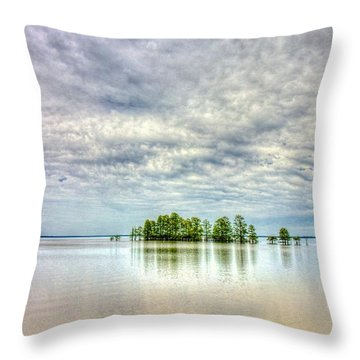 Island Storm Throw Pillow