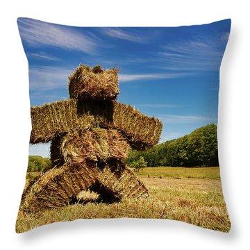 Island Strawman Throw Pillow