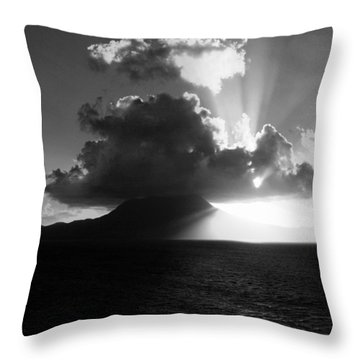 Island Sunrise 2  Throw Pillow by Perry Webster