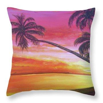 Island Sunrise Throw Pillow