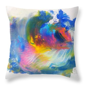 Island Sunrise Throw Pillow