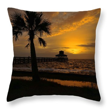 Island Sunrise Throw Pillow by Judy Vincent