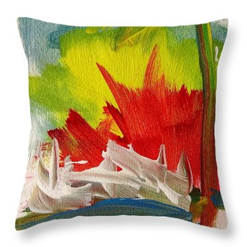 Island Sunset Throw Pillow by Fred Wilson