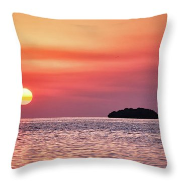 Throw Pillow featuring the photograph Island Sunset by Louise Lindsay