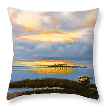 Island Sunset Throw Pillow by Rick McKinney