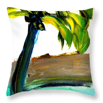 Island Time Signed Print Throw Pillow