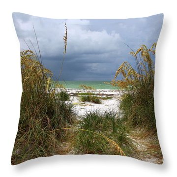 Island Trail Out To The Beach Throw Pillow